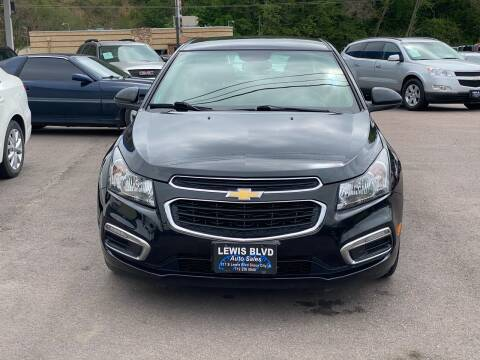 2015 Chevrolet Cruze for sale at Lewis Blvd Auto Sales in Sioux City IA