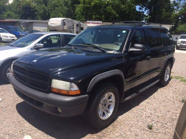 2003 DODGE DURANGO SXT 4DR SUV black 03 dodge durango v-8 at ac loaded we finance front air con