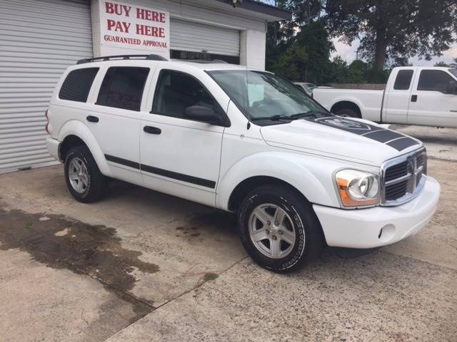 2006 DODGE DURANGO SLT 4DR SUV W FRONT REAR AND T white 2006 dodge durango 57 hemi leather 3rd