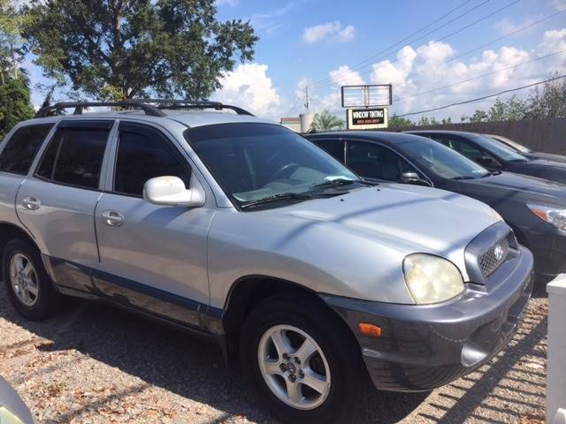 2002 HYUNDAI SANTA FE GLS AWD 4DR SUV gray nice small suv very clean we finance front air conditi