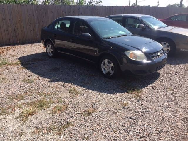 2006 CHEVROLET COBALT LS 4DR SEDAN black nice clean small car great gas mileage  we finance air f