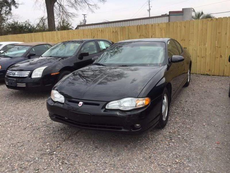 2005 CHEVROLET MONTE CARLO LT 2DR COUPE black we finance buy here pay here front air conditioning