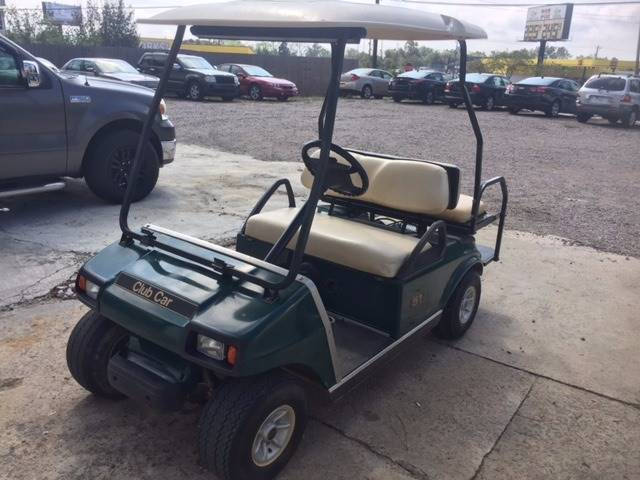 2009 CLUB CAR DS green 2009 club car ds 48 volt light kit rear folding seat mirror will sell as i