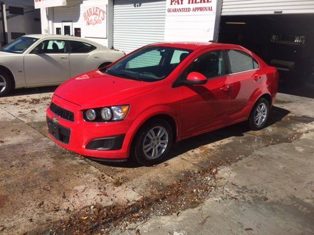 2015 CHEVROLET SONIC LT AUTO 4DR SEDAN red very clean nice little gas saver with low miles door h