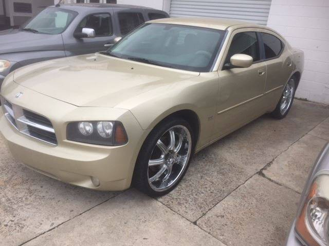 2010 DODGE CHARGER SXT 4DR SEDAN champagne nice charger sharp 22 wheels we finance headlight beze