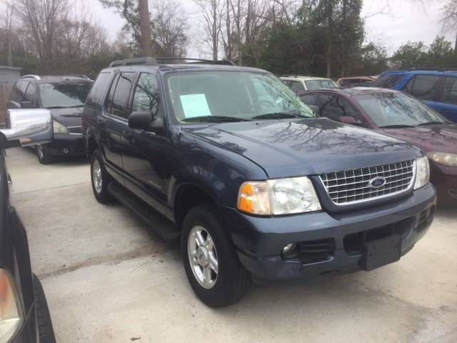 2005 FORD EXPLORER XLT 4DR SUV blue nice explorer 3rd row loaded  we finance front air conditioni