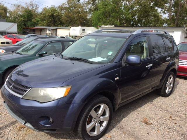 2008 MITSUBISHI OUTLANDER XLS AWD 4DR SUV blue extra clean suv nice   we finance exhaust - dual t