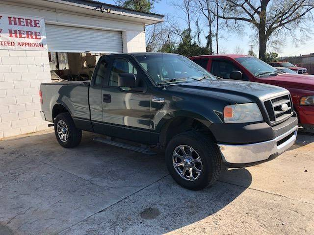2006 FORD F-150 XL 2DR REGULAR CAB STYLESIDE 65 green good running pickup   w