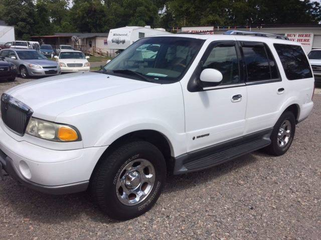 2001 LINCOLN NAVIGATOR BASE 4WD 4DR SUV white lincoln navigator leather loaded sunroof third row