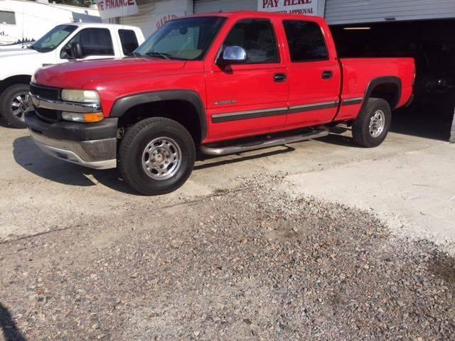 2002 CHEVROLET SILVERADO 2500HD LT 4DR CREW CAB 2WD SB red 2002 silverado  lt 2500 hd  81 v-8  w