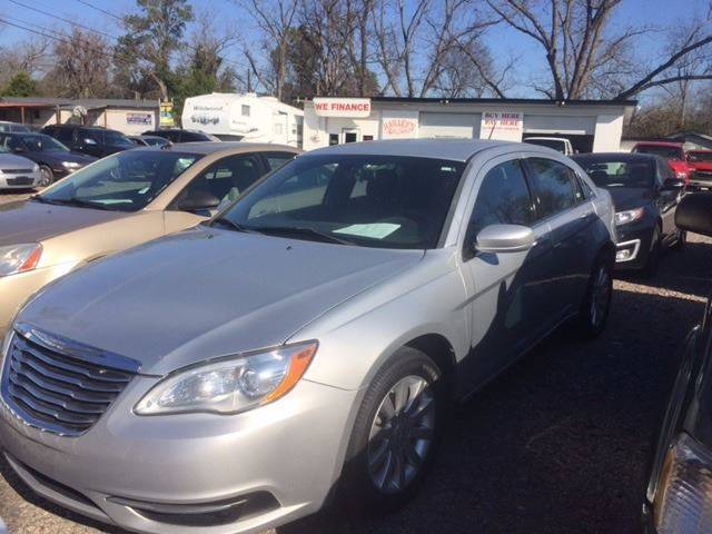 2012 CHRYSLER 200 TOURING 4DR SEDAN silver clean low mileage loadedwe finance door handle co