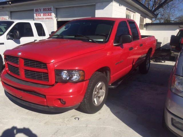 2003 DODGE RAM PICKUP 1500 SLT 4DR QUAD CAB RWD SB red clean loaded we finance front bumper color