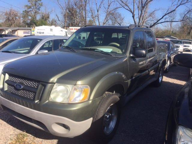 2001 FORD EXPLORER SPORT TRAC BASE 4DR CREW CAB SB 2WD green clean low mileagewe finance fron