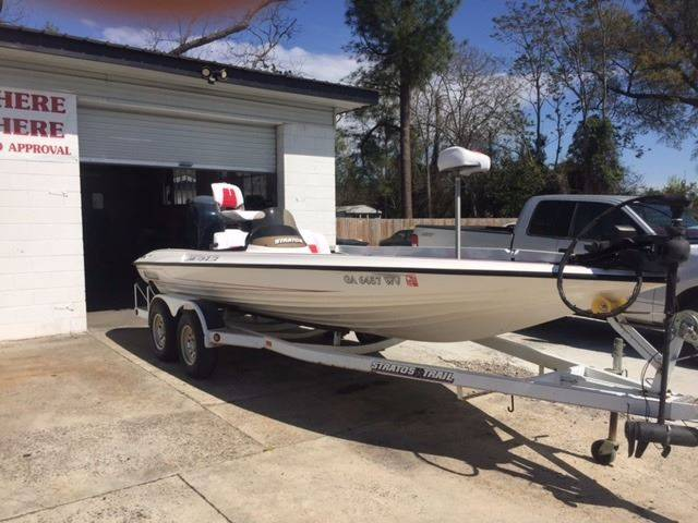 1997 STRATOS 201 PRO ELITE white 1997 stratos 201 pro elite excellent condition 2003 evinrude 225