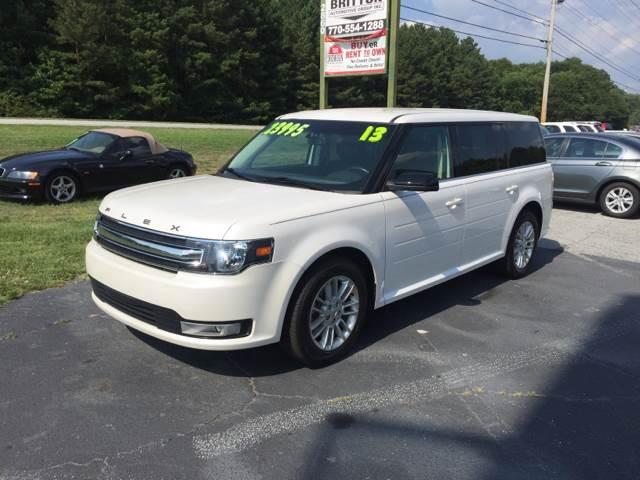 2013 Ford Flex for sale at Britton Automotive Group in Loganville GA