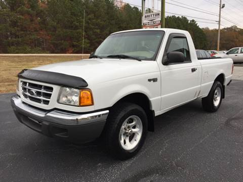2002 Ford Ranger for sale at Britton Automotive Group in Loganville GA