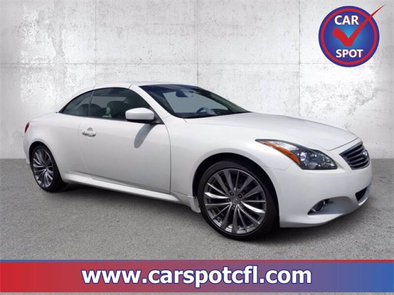 2012 Infiniti G37 Convertible for sale at Car Spot Of Central Florida in Melbourne FL