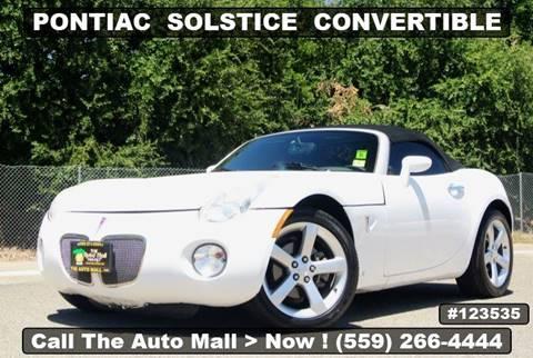 2008 Pontiac Solstice for sale in Fresno, CA