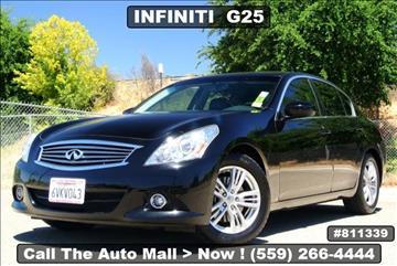 2012 Infiniti G25 Sedan for sale in Fresno, CA