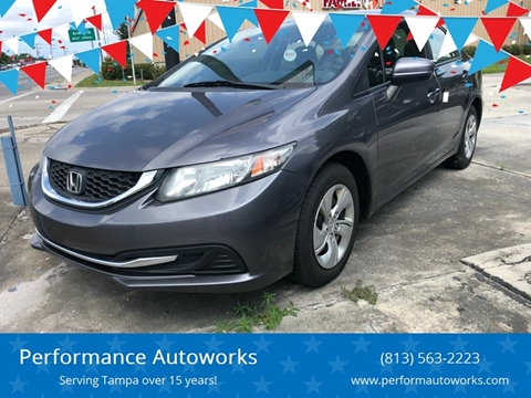 2014 Honda Civic for sale at Performance Autoworks in Tampa FL