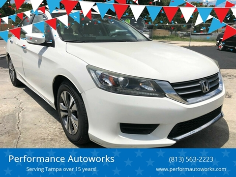2013 Honda Accord for sale at Performance Autoworks in Tampa FL