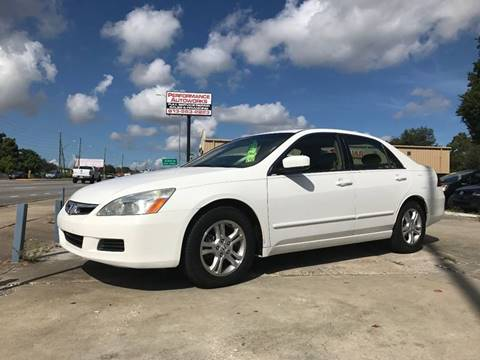 2007 Honda Accord for sale at Performance Autoworks in Tampa FL
