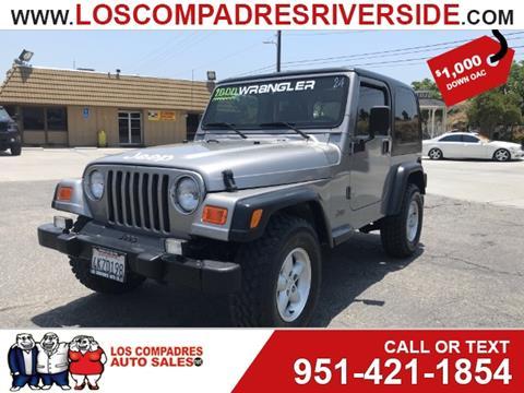 2000 Jeep Wrangler for sale in Riverside, CA