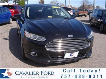 2013 Ford Fusion for sale in Chesapeake, VA