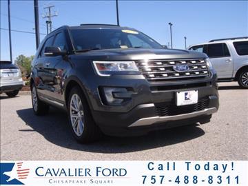 2016 Ford Explorer for sale in Chesapeake, VA