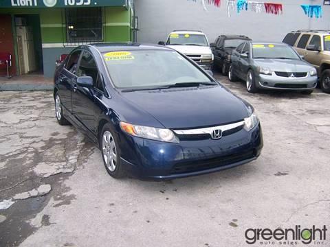 2006 Honda Civic for sale at Green Light Auto Sales INC in Miami FL