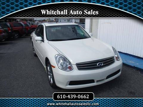 2006 Infiniti G35 for sale in Whitehall, PA