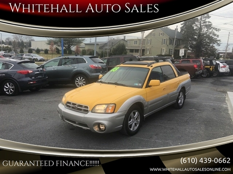 Whitehall Auto Sales >> 2003 Subaru Baja For Sale In Whitehall Pa