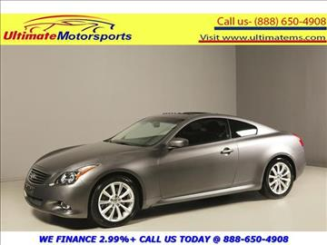 2014 Infiniti Q60 Coupe for sale in Houston, TX
