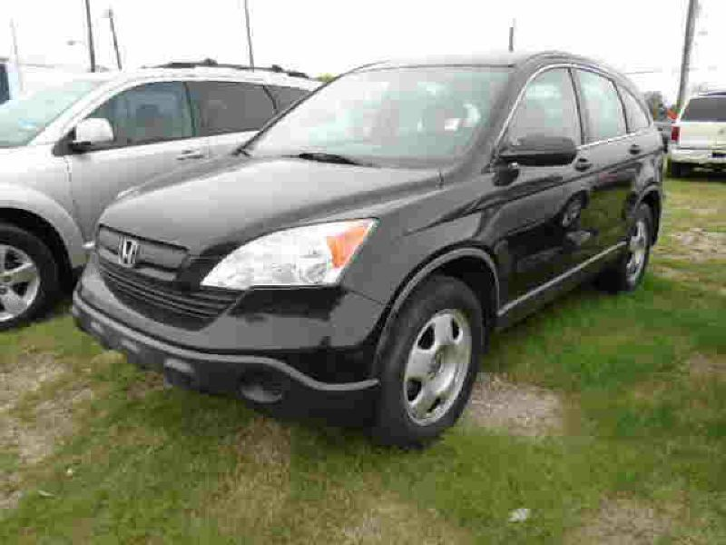 2008 HONDA CR-V LX 4DR SUV black air conditioning power windows power locks power steering ti