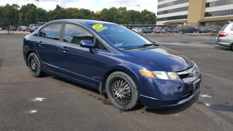 2008 HONDA CIVIC LX 4DR SEDAN 5A blue air conditioning power windows power locks power steerin