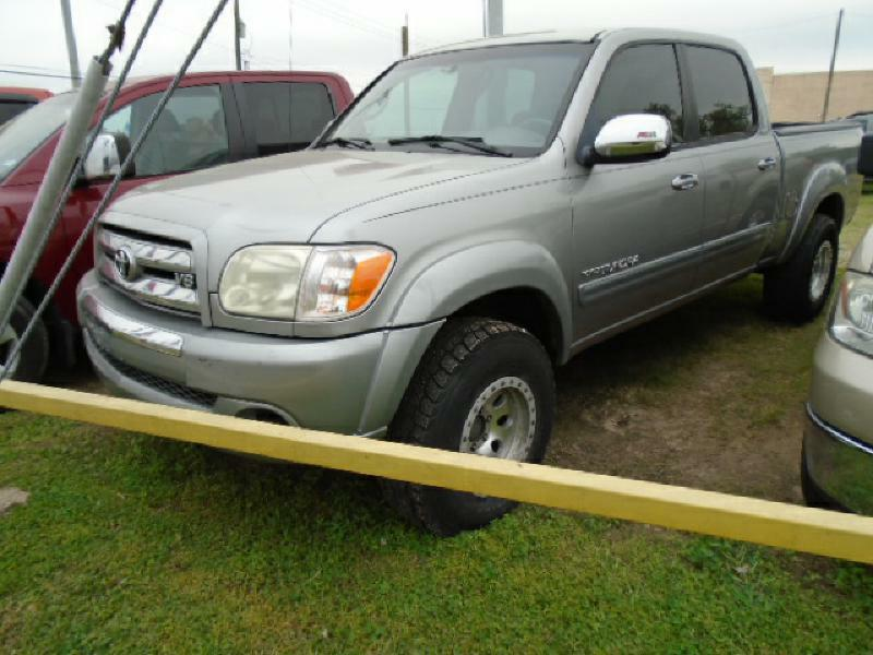 2005 TOYOTA TUNDRA SR5 4DR DOUBLE CAB 4WD SB V8 silver air conditioning power windows power loc