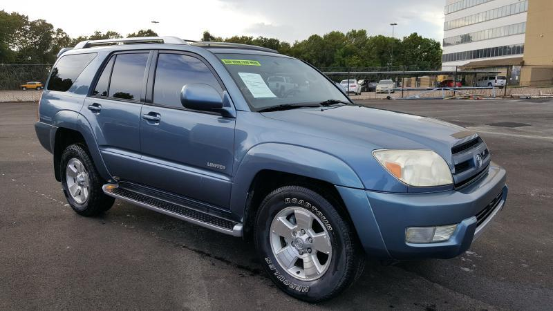 2003 TOYOTA 4RUNNER LIMITED 4DR SUV blue air conditioning power windows power locks power stee