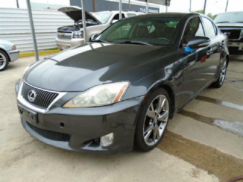 2009 LEXUS IS 250 BASE 4DR SEDAN 6A black air conditioning power windows power locks power ste