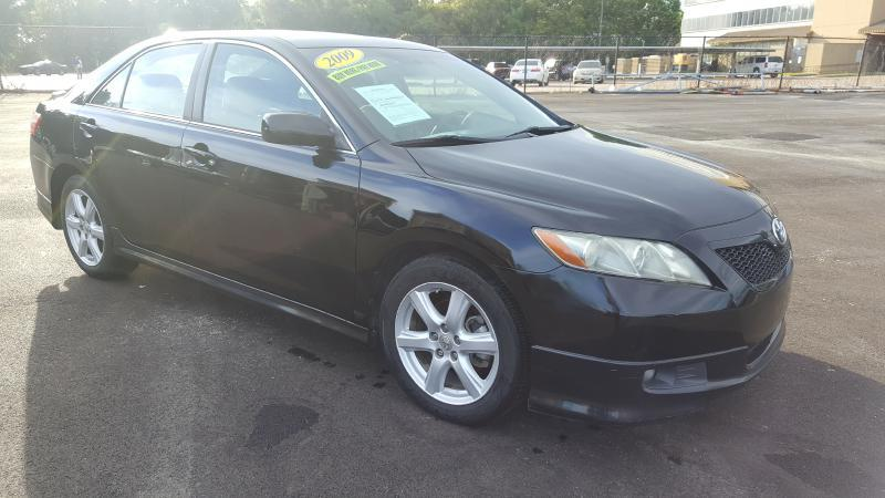 2009 TOYOTA CAMRY BASE 4DR SEDAN 5A black air conditioning power windows power locks power ste