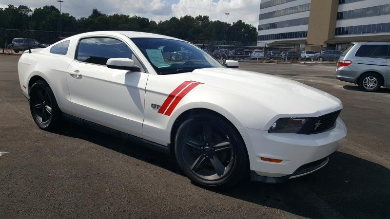 2010 FORD MUSTANG GT 2DR COUPE white air conditioning power windows power locks power steering