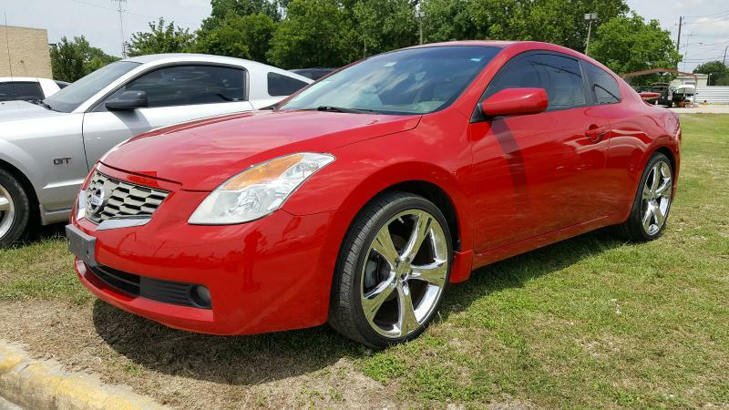 2008 NISSAN ALTIMA 25S red air conditioning power windows power locks power steering tilt wh