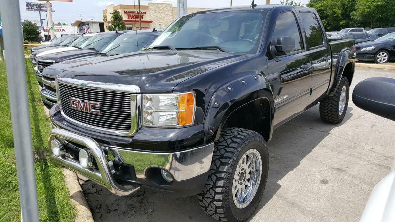 2010 GMC SIERRA 1500 SLE 4X4 4DR CREW CAB 58 FT SB black air conditioning power windows power
