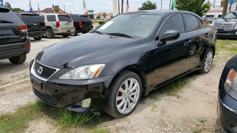 2006 LEXUS IS 250 BASE AWD 4DR SEDAN black air conditioning power windows power locks power st