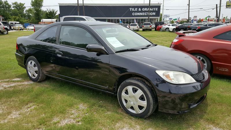 2005 HONDA CIVIC LX 2DR COUPE black air conditioning power windows power locks power steering