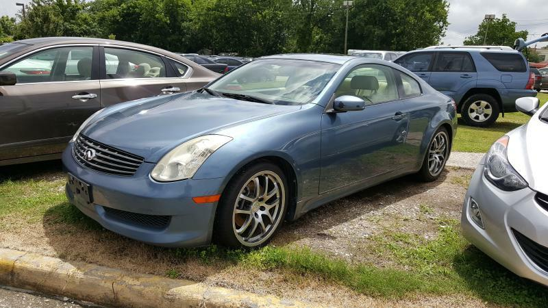 2007 INFINITI G35 BASE 2DR COUPE 35L V6 5A blue air conditioning power windows power locks
