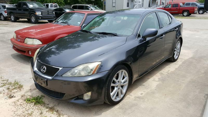 2007 LEXUS IS 250 BASE 4DR SEDAN 25L V6 6A gray air conditioning power windows power locks