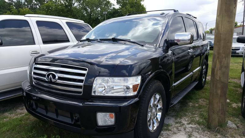 2007 INFINITI QX56 BASE 4DR SUV black air conditioning power windows power locks power steerin