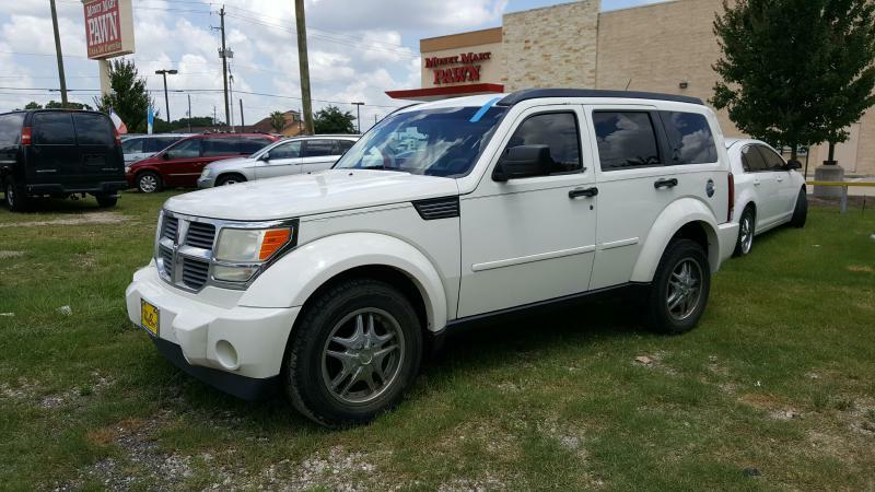 2007 DODGE NITRO SXT 4DR SUV white air conditioning power windows power locks power steering