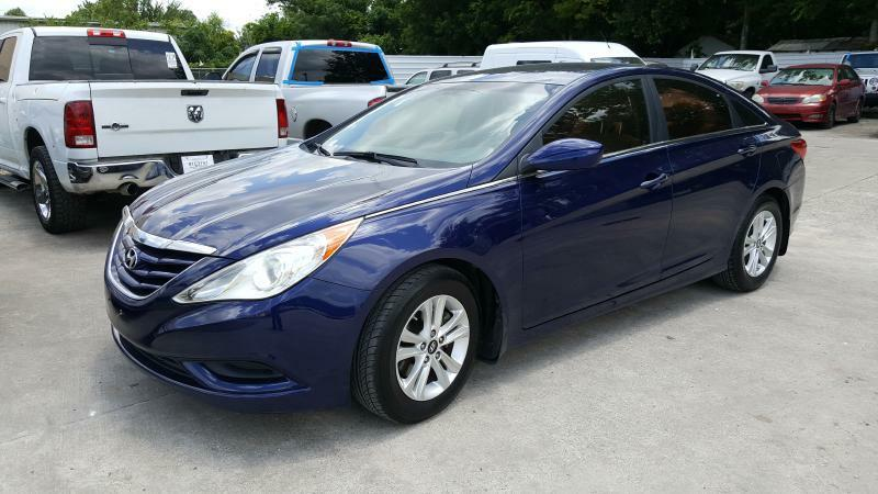 2011 HYUNDAI SONATA GLS 4DR SEDAN blue air conditioning power windows power locks power steeri