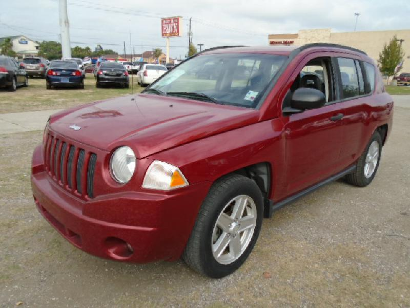 2007 JEEP COMPASS SPORT 4DR SUV red air conditioning power windows power locks power steering